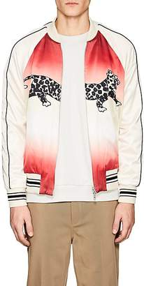 Ovadia & Sons Men's Leopard-Print Reversible Silk Souvenir Jacket