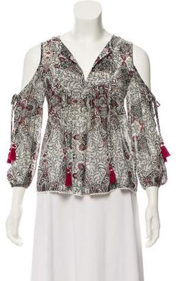 Rebecca Minkoff Floral Cold-Shoulder Top