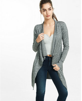 Express marled hooked cowl neck cover up $59.90 thestylecure.com