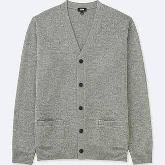 Uniqlo Men's Premium Lambswool V-Neck Long-sleeve Cardigan