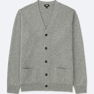 Uniqlo Men's Premium Lambswool V-Neck Long-sleeve Cardigan