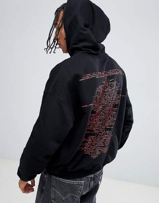 Cheap Monday Logo Oversized Hoodie with Back Print