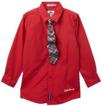 English Laundry Dress Shirt & Tie Set (Big Boys)