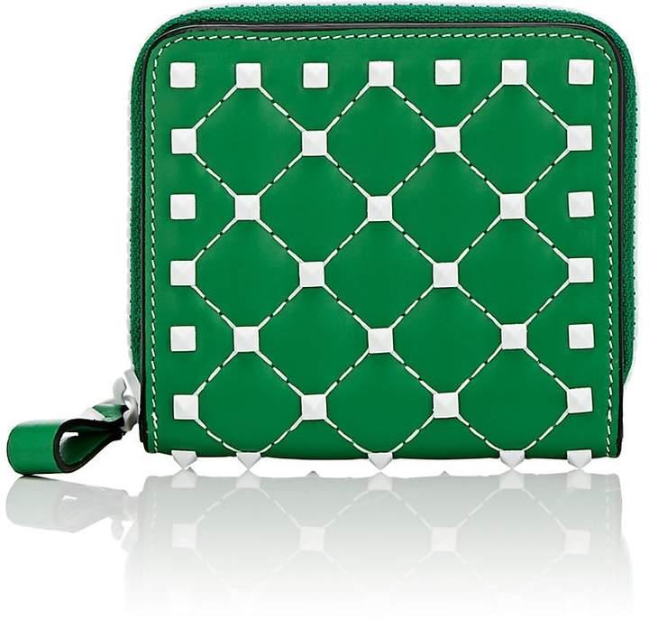 Valentino Garavani Women's Rockstud Spike Leather French Wallet