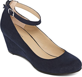 ARIZONA Arizona Laflin Ankle-Strap Wedge Pumps $34.99 thestylecure.com