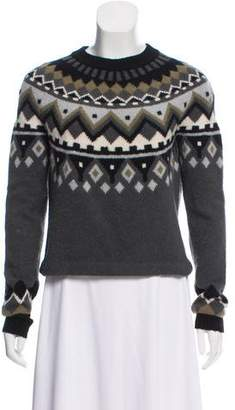 Proenza Schouler Wool & Cashmere-Blend Intarsia Sweater