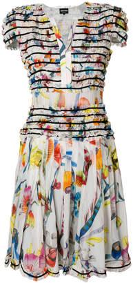 Giorgio Armani nature printed style dress