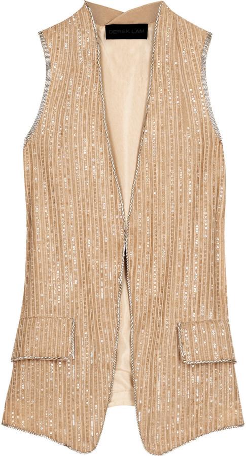 Derek Lam Silk sequin vest