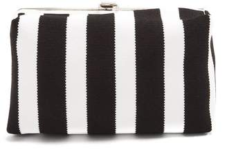 Proenza Schouler Asymmetric-frame striped clutch