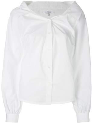 Frame Vネックシャツ