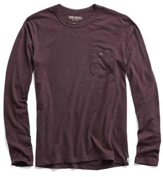 Todd Snyder Made in L.A. Long Sleeve Tee in Burgundy