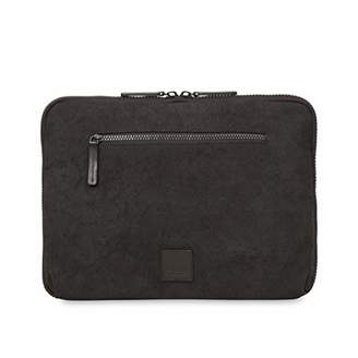 Knomo 159 1284-069-18 BKW Fulham Knomad Zip Around Folio Sleeve for 13 inch Laptop Made of Waxed Cloth | Zip Pocket with RFID protection – Black