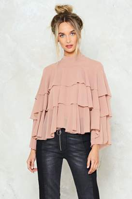 Nasty Gal Dry My Tiers Ruffle Blouse