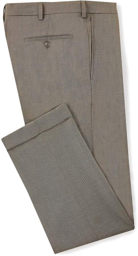 Roundtree & Yorke Ultimate Comfort Travel Smart Pleated Nailhead Relaxed Fit Dress Pants