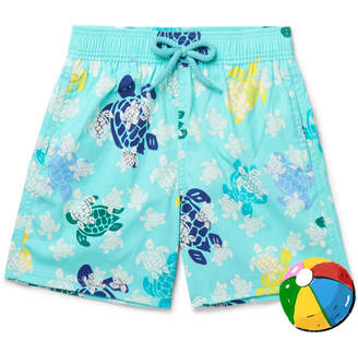Vilebrequin Boys Ages 10 - 12 Jim Glow-in-the-Dark Printed Swim Shorts - Blue