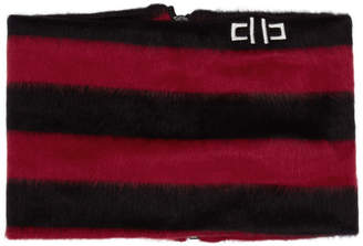 D by D Black and Red Striped Zip-Up Neck Warmer