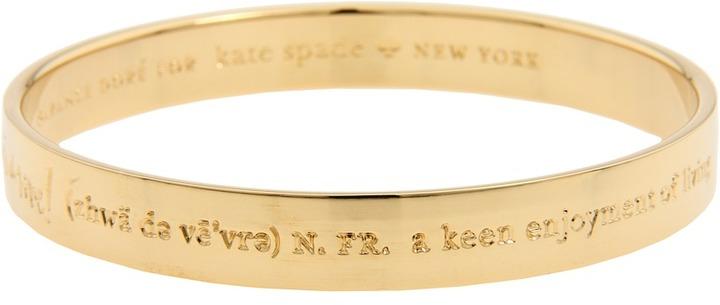 Kate Spade New York Idiom Bangles - Off You Go - Engraved