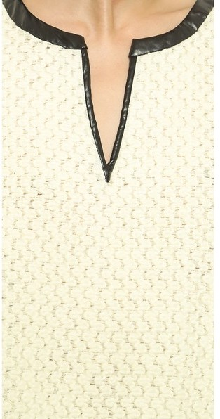 Derek Lam 10 Crosby Wide Sleeve Crop Top