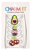 CHARM IT!® 3-Pack Glitter Fruit Shoelace Charms