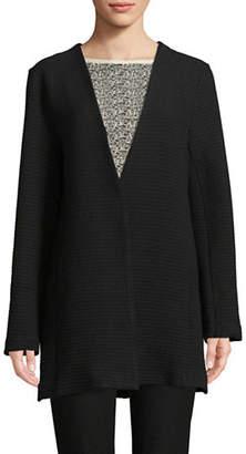 Eileen Fisher Long Jacquard Jacket