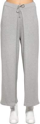 Aalto Fixed Pleats Cotton Jersey Sweatpants