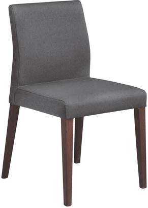fd2b6221007 Elodi Grey upholstered dining chair with walnut stain legs