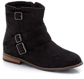 CASTALUNA PLUS SIZE Wide Fit Faux Suede Buckled Ankle Boots