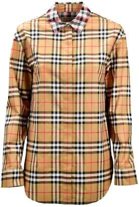 Burberry Contrast Check Shirt