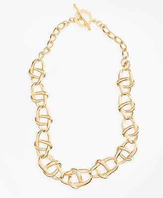 Brooks Brothers Gold-Plated Nautical Link Necklace