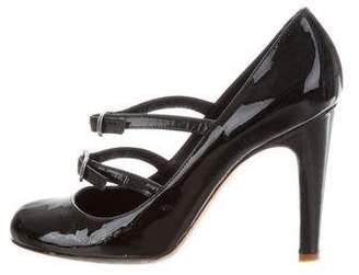 Marc Jacobs Patent Leather Rounded-Toe Pumps