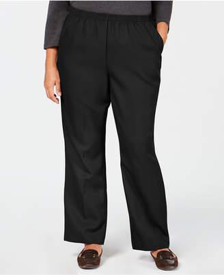 Karen Scott Plus-Size Mid-Rise Pull-On Pants, Created for Macy's