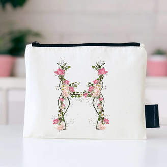 Kelly Connor Designs Woodland Floral Initial Make Up Bag
