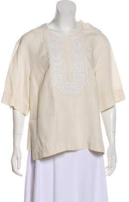 Isabel Marant Linen Embroidered Top