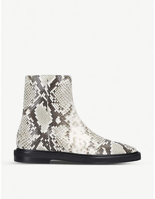 Acne Studios Breaker snakeskin-print leather ankle boots