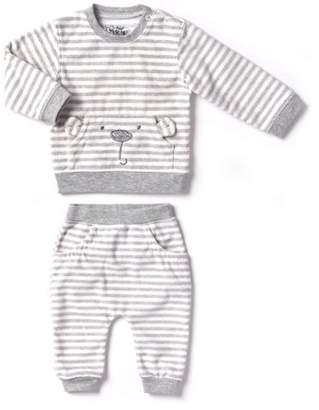 Kapital K Newborn Baby Boy or Girl Unisex Polar Fleece Top & Pant 2pc Outfit Set