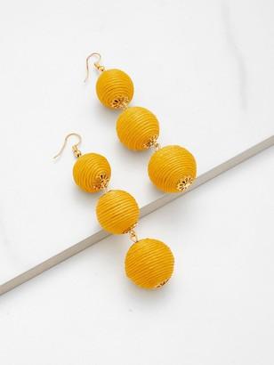 Shein Pom Pom Design Drop Earrings