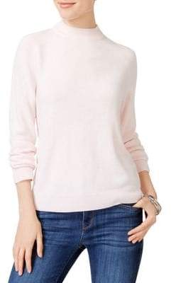 Karen Scott Mock Neck Sweater