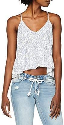New Look Women's Akbaslar Ditsy Regular Fit Animal Print V-Neck Sleeveless Vest Top,(Manufacturer Size:)