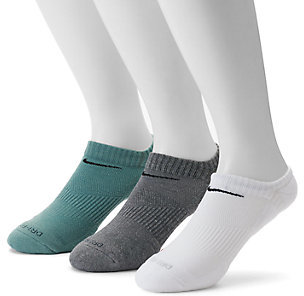 Men's Nike 3-pack Dri-FIT Cushioned No-Show Socks $18 thestylecure.com