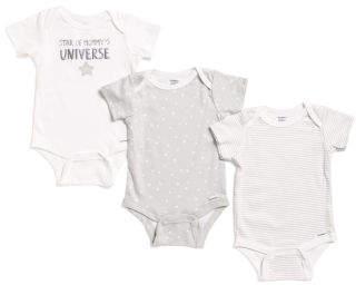 Unisex Newborn Star Of Mommy's Universe 3pk Bodysuits