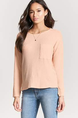 Forever 21 Ribbed Knit Marled Top