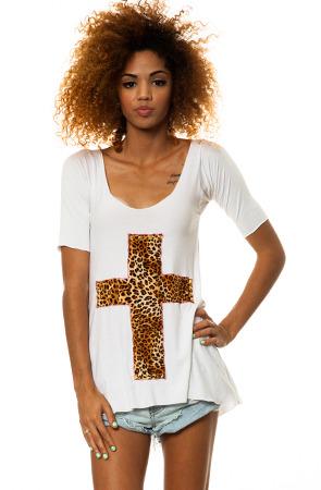 MARIALIA Leopard Cross Shirt Dress
