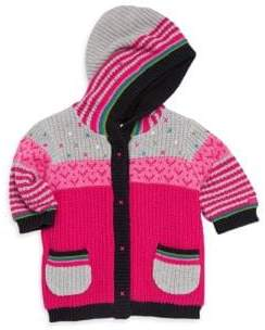 Catimini Baby Girl's Block Striped Hoodie