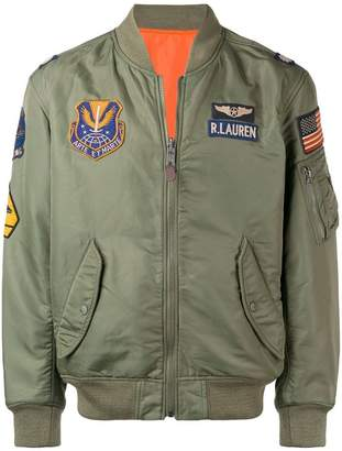 Polo Ralph Lauren patches bomber jacket