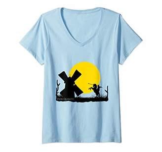 Victoria's Secret Womens Don Quixote Windmill in Sunset V-Neck T-Shirt