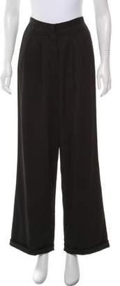 Calvin Klein Wool Wide-Leg Pants