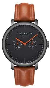 Ted Baker Multi-Function Leather Strap Watch