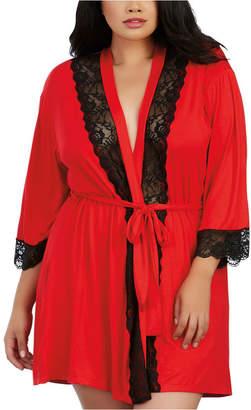 Dreamgirl Plus Size Soft Spandex Jersey Robe