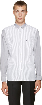Burberry Black & White Striped Jarrod Shirt $295 thestylecure.com