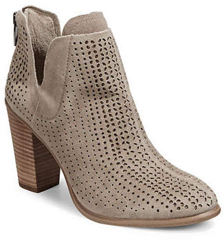 Vince Camuto Farrier Perforated Suede Booties